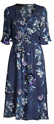 Kobi Halperin Women's Floral Embellished Faux-Wrap Midi-Dress