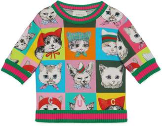 Gucci Children's pets print sweatshirt