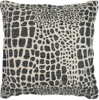 """Rizzy Home Black 22"""" X 22"""" Animal Print Poly Filled Pillow"""