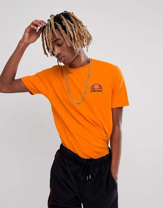 Ellesse T-Shirt With Small Chest Logo In Orange