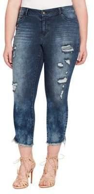 Jessica Simpson Plus Kiss Me Distressed Ankle Jeans