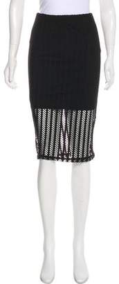 KENDALL + KYLIE Open-Knit Pencil Skirt w/ Tags