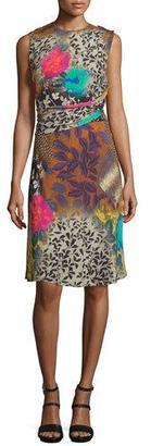 Etro Draped Floral Sleeveless Dress, Multi $1,450 thestylecure.com
