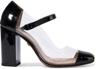 ALEXACHUNG Faux Patent-leather And Pvc Mary Jane Pumps