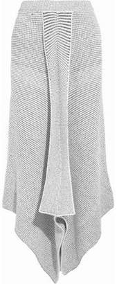 Stella McCartney Asymmetric Stretch Wool-Blend Bouclé Maxi Skirt