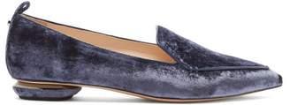 Nicholas Kirkwood Beya Velvet Loafers - Womens - Navy