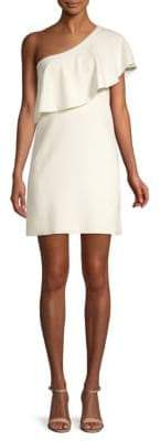 Milly One Shoulder Flounce Dress