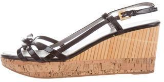 pradaPrada Bow-Accented Wedge Sandals