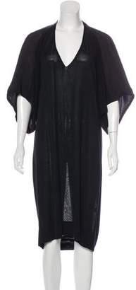 White + Warren Short Sleeve Midi Dress