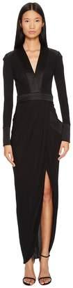 Thomas Wylde Shelly Long Sleeve Jersey Long Dress Women's Dress