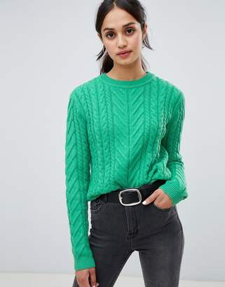 Bershka cable knit jumper