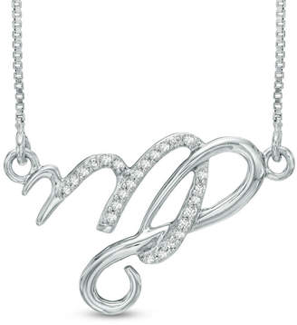 Zales Diamond Accent Abstract Capricorn Zodiac Sign Necklace in Sterling Silver 3GSTu4S2o