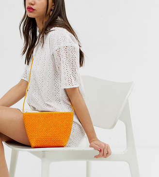 South Beach Exclusive orange beaded resin cross body bag