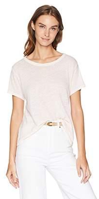Enza Costa Women's Hemp Cotton Easy Short Sleeve Crew Neck T-Shirt