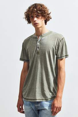 Urban Outfitters Burnout Short Sleeve Henley Tee