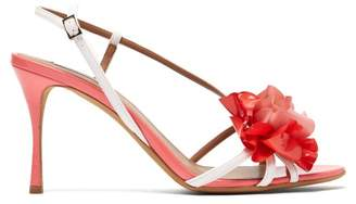 Tabitha Simmons Peony Patent Leather Sandals - Womens - Pink White