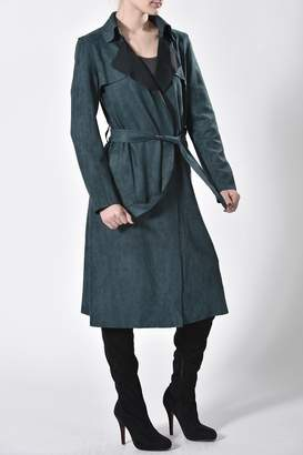 jane plus one Faux Suede Coat