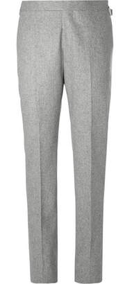 Kingsman Light-Grey Slim-Fit Mélange Wool-Flannel Suit Trousers