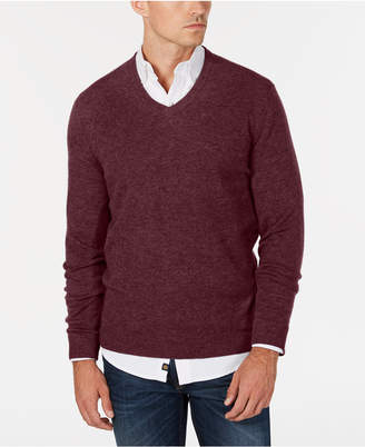 Club Room Men's V-Neck Cashmere Sweater