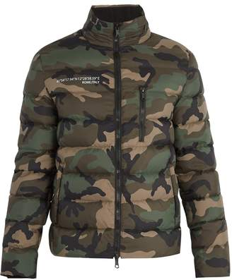 Valentino Camouflage-print quilted-down jacket