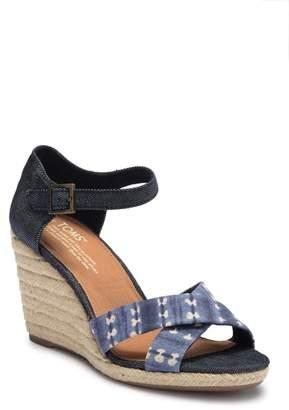 Toms Sienna Batik Espadrille Wedge Sandal