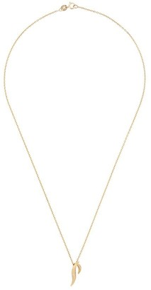 Daou 18kt yellow gold feather pendant necklace