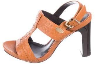 Fendi Leather Slingback Sandals w/ Tags