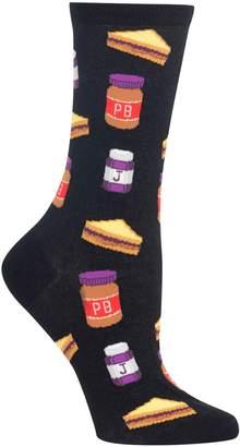 Hot Sox Women's Novelty Peanut Butter Jelly Socks