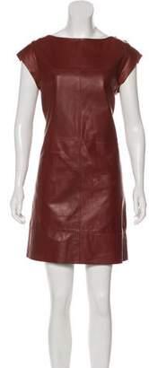 Brunello Cucinelli Leather Shift Dress