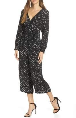 a53a96079e6 Eliza J Faux Wrap Crop Jumpsuit