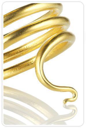 Katrina LaPenne Cleopatra Snake Ring in Gold