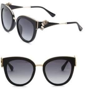 Jimmy Choo Jade Oversized Sunglasses& Crystal Clip-On Ear Climbers