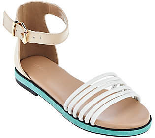 LOGO by Lori Goldstein Ankle Strap FootbedSandals
