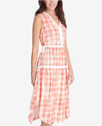 DKNY Printed Ruched Dress, Created for Macy's
