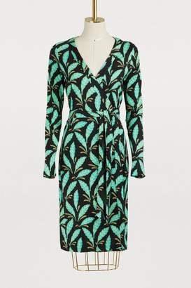 Diane von Furstenberg Silk Jeanne wrap Dress