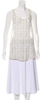 Ann Demeulemeester Silk Printed Tunic