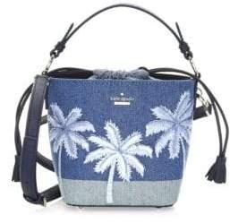 Kate Spade Pippa Denim& Leather Bucket Bag
