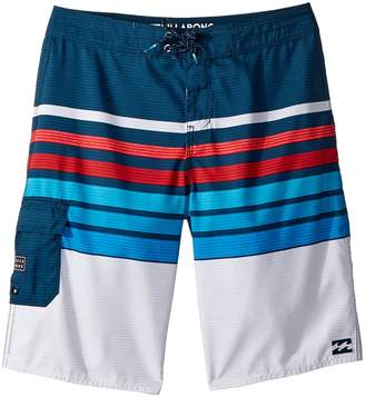 Billabong Kids All Day OG Stripe Boardshorts Boy's Swimwear