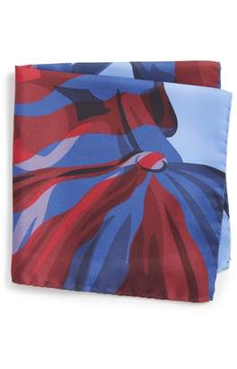 Eton Statue of Liberty Silk Pocket Square