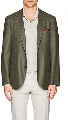 Brunello Cucinelli Men's Wool-Blend Flannel Three-Button Sportcoat