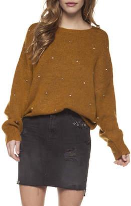 Dex Pearl Stud Crewneck Sweater
