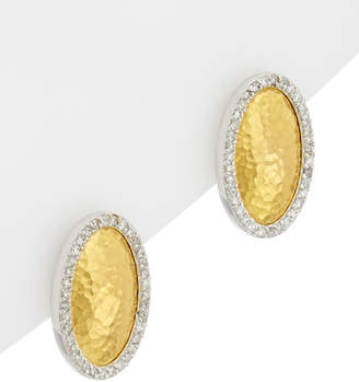 Gurhan Jordan 24K, 18K, & Rhodium Plated 0.28 Ct. Tw. White Diamond Earrings