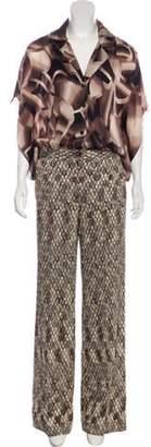 Missoni High-Rise Printed Jumpsuit Brown High-Rise Printed Jumpsuit