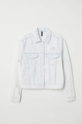 H&M Denim Jacket Trashed - White denim - Women