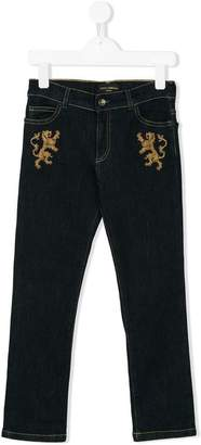 Dolce & Gabbana embroidered denim jeans