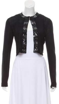 Paul Smith x Black Label Sequined Cropped Cardigan
