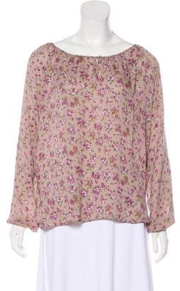 Gerard Darel Floral Silk Top