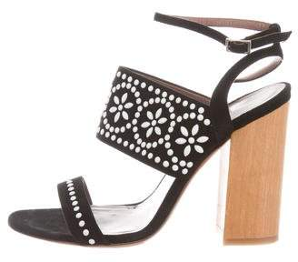 Tabitha Simmons Embellished Ankle Strap Sandals