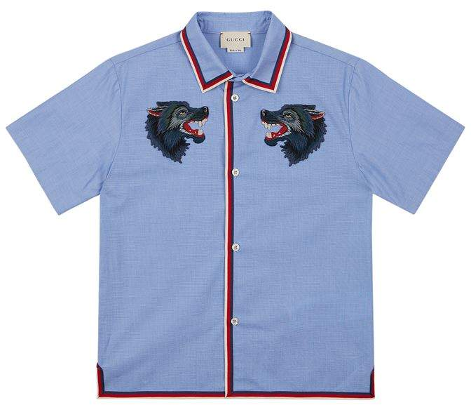 Embroidered Wolf Shirt