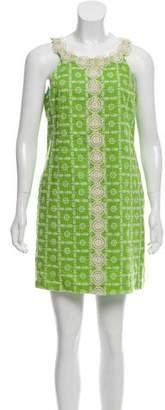 Tibi Sleeveless Eyelet Dress